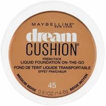 Maybelline Dream Cushion Liquid Foundation 0.51 oz - 45 Medium Beige - $8.89