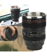 Camera Lens Cup 24-105 Coffee Travel Mug Thermos Stainless Steel, Leak-P... - $19.43