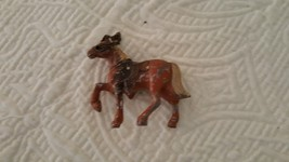 SMALL CAST METAL HORSE ONE POT METAL - $13.86