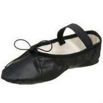 So Danca BA14 Adult Size 4M (Fits 6) Black Leather Full Sole Ballet Shoe - $12.99