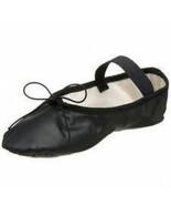 So Danca BA14 Adult Size 4M (Fits 6) Black Leather Full Sole Ballet Shoe - $12.99