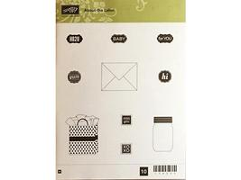 Stampin' Up! About the Label Rubber Cling Stamp Set #134258