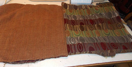 Pair of Beige Burgundy Abstract Decorative Print Throw Pillows  19 x 19 - $49.95