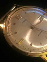 """Vintage Gold Timex 2124 2567  1 1/4"""" watch (No band)  image 5"""