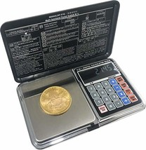 Optima Home Scales Atom Pocket WEIGH Scale Black/Silver, AT-2001 - $20.57
