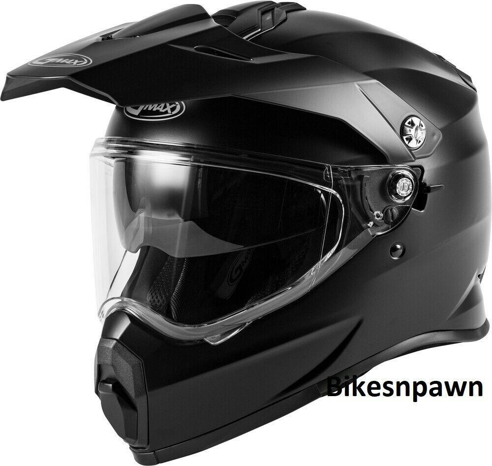 New Adult XL Gmax AT-21 Matte Black Adventure Offroad Helmet DOT/ECE