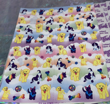 PICK 1*Lisa Frank Full Sticker Sheet Minis Kitten Dog Fruit Panda Peekaboo Koala image 4