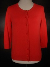 Beautiful Women's PS Petite Small Talbots Red 3/4 Sleeve Button Cardigan... - $24.28