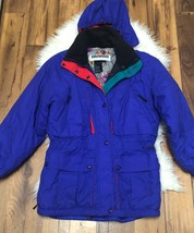 Edelweiss ski jacket VTG Ski Snowboarding Jacket Purple with hood 80 90s... - $44.09