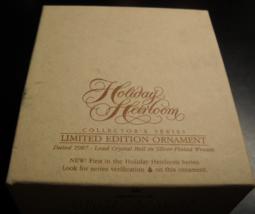 Hallmark Keepsake Christmas Ornament 1987 Holiday Heirloom Silver Plate ... - $10.99
