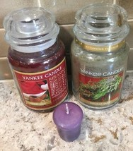 2 Two Yankee Candle 22 oz First Quality SANTA'S PIPE + HOLIDAY SAGE + FR... - $49.44