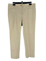 Ann Taylor Women's Beige Mid-Rise Crop Dress Pants Size 10 Tall Inseam 2... - $21.78