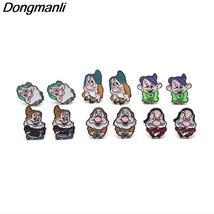 P2982 Wholesale 20pair/lot the Seven Dwarfs stainless steel pierce Ear S... - $99.99+