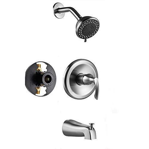Gabrylly Shower Faucet, Single-Function Tub and Shower Faucet Set with 4-Inch Sp