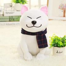 White Shiba Inu Dog Doll Plush Stuffed Fur Curly Toy Cute Puppy Japan Gifts Kid - $17.50