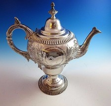 Silverplate Coffeepot with Beautiful Design with House, River & Trees - $63.75