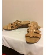 NEW Vionic Womens Size 9 Slides Flip Flop Sandals Gold Cork Adjustable S... - $44.95