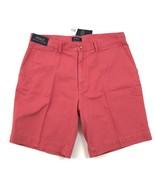 Neu Polo Ralph Lauren Korallenrot Shorts Größe 36 Khaki Chino Glatt Vorne - $44.88
