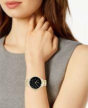 I.N.C. Women's Gold-Tone Bracelet Black w Pearl Accents Dial 36mm Quartz Watch image 4