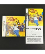 The Simpsons Game (Nintendo DS, 2004) CASE MANUAL & INSERTS ONLY - NO GAME - $9.98