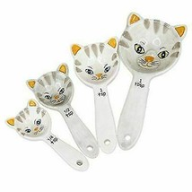 Ebros Loveable Kittens Cat Ceramic Measuring Spoons Set of 4 Creative - $15.39