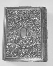 Judaica Vintage Silver Filigree Tzedakah Charity Box Book Design image 5
