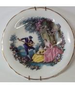 Royal Grafton England Wall Plate Vintage Victorian Man Serenading Women - $9.85