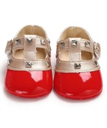 Red Leather Girls Walking Shoes Infant Soft Bottom Toddler Shoes Y20613 - $16.99