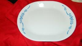 Corelle Blue Cornflower 60TH Annv 12.25 Inch Oval Serving Platter Free Usa Ship - $28.04