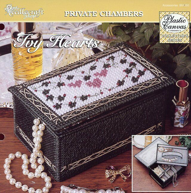 Ivy Hearts Jewelry Box TNS Plastic Canvas PATTERN/INSTRUCTIONS/NEW image 1