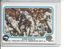 (b-30) 1979 Fleer football #67 of 69 - Super Bowl XI - $1.50