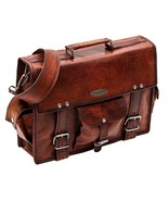 2018 Men's Genuine Leather Vintage Laptop Messenger Briefcase Bag Satche... - $62.36