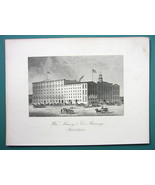 PHILADELPHIA  William Massey & Co's Brewery Building - 1876 Engraving Print - $21.42