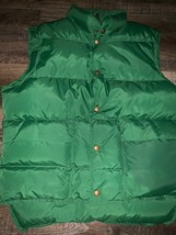 L. L. Bean ~ Vtg Men's Goose Down Filled Green Puffy Vest Made in USA ~ M - $32.71