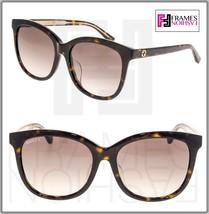GUCCI 0082 Oversized Crystal Tortoise brown Gradient Sunglasses GG0082SK Women - $264.33