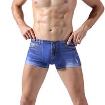 Mens Sexy Jean denim short comfort Underwear Boxers Breifs. Fast free sh... - $11.87