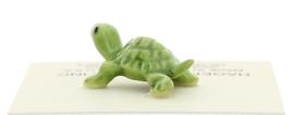 Hagen-Renaker Miniature Ceramic Turtle Figurine Tiny Green Baby Turtle image 3