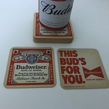 Vtg Budweiser Coasters Cardboard THIS BUD'S FOR YOU Lot of 16 1980's Bar Cave - $12.16