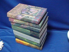 Complete Set of 7 Harry Potter First Edition Series HC Books with Dust C... - $440.55