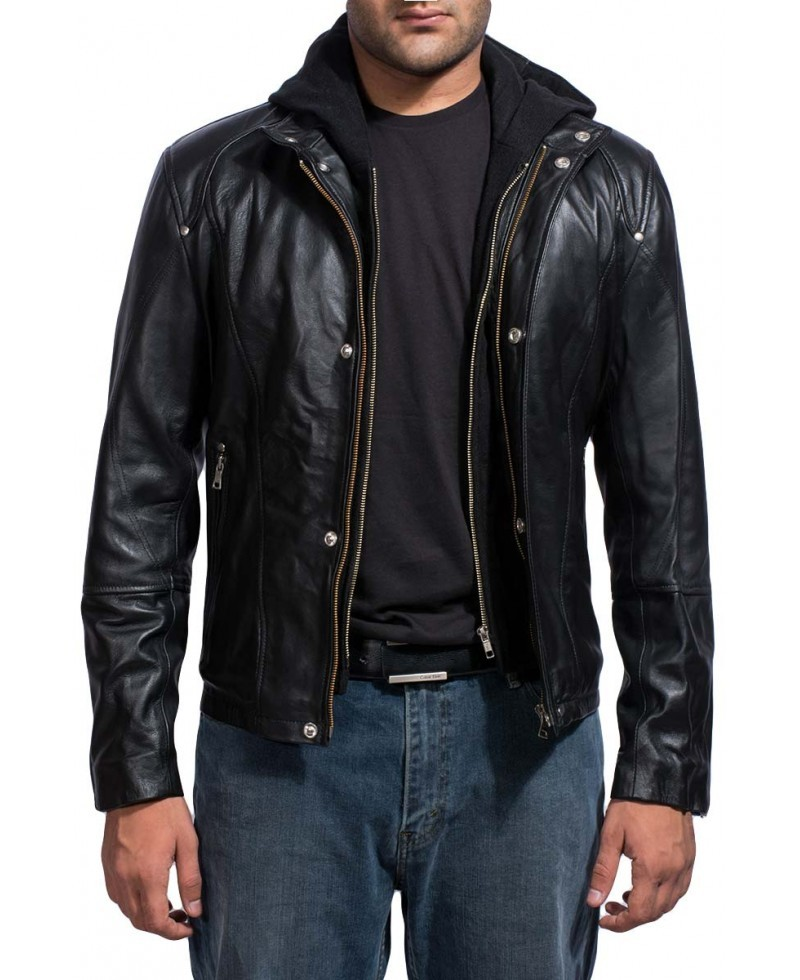 Paul walker brick mansions biker replica men leather jacket