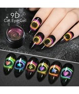 9d Galaxy Cat Eye Nail Gel Chameleon Magnetic Soak Off Uv/led Manicure Gel - $1.19+