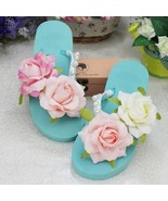 Women Slippers Shoe Female Casual Flower Outdoor High Quality Handmade - $18.30