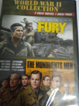 DVD 1. Fury & 2. The Monuments Men, 2015 - $4.35