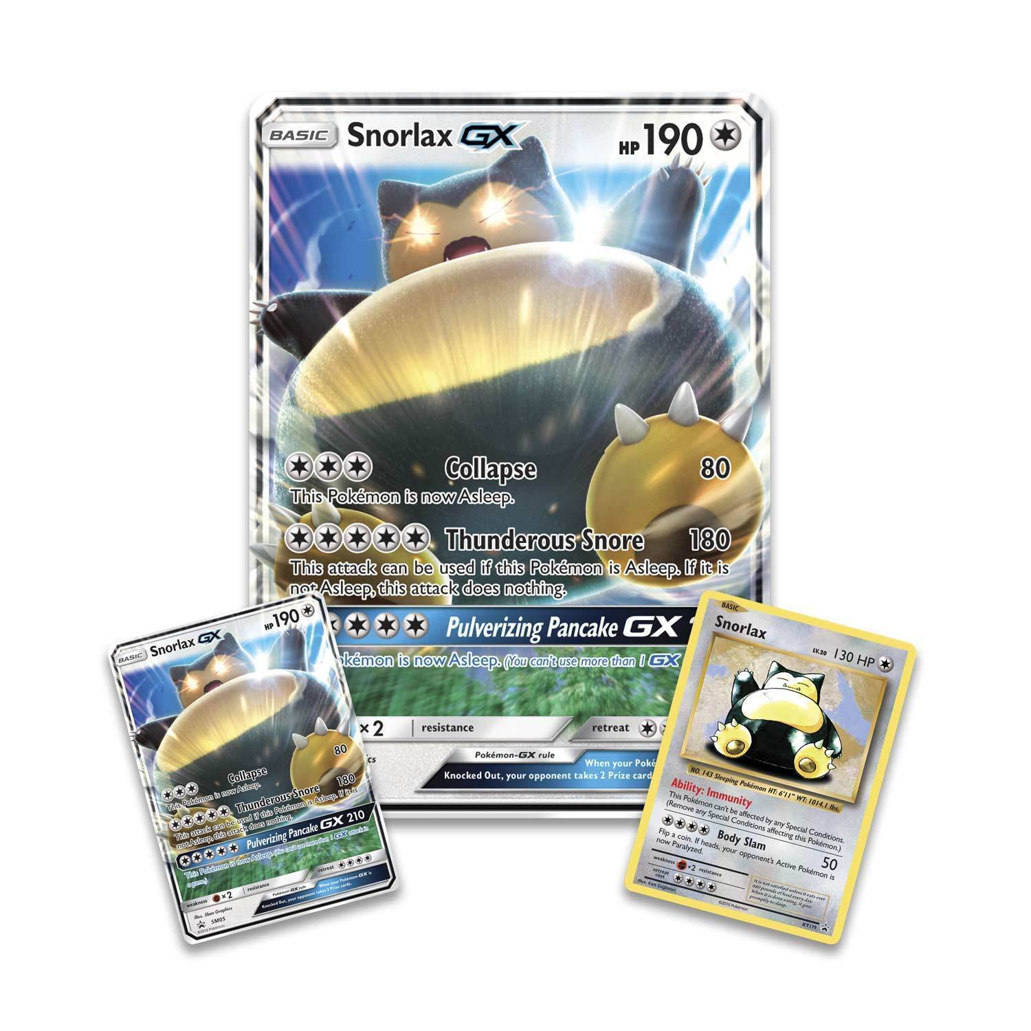 Snorlax GX Box + Kangaskhan EX Box POKEMON TCG Collection Sealed Booster Packs