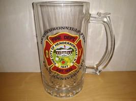 City Of Hendersonville  North Carolina Fire Dept 125th Ann. Glass Beer S... - $16.44