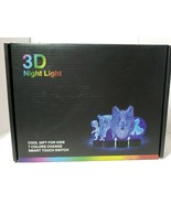 3-D nightlight unicorn new child USB Night Light Changes Colors - $20.21