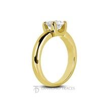 0.34ct J-VS2 Ideal Round Certified Diamond 18k Gold Classic Solitaire Ri... - $1,142.46