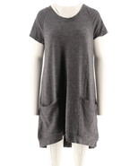 AnyBody Loungewear Cozy Knit French Terry Dress Heather Steel XS NEW A29... - $29.68