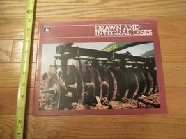 John Deere Drawn and Integral Disks Vintage Dealer sales brochure - $14.99