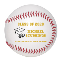 Personalized Custom Class of 2020 Graduation Baseball Gift Gold Text - $34.95